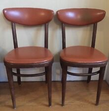 Pair Vintage THONET MCM  Dining Side Chairs Rare-Style/Color A