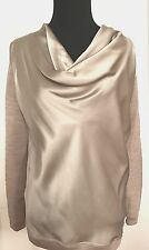 Why C1 Womens Taupe Wool | Silk Sweater Size S New without Tags Made in Italy