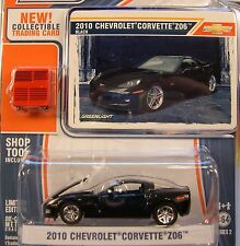 GREENLIGHT 1:64 SCALE DIECAST METAL BLACK 2010 CHEVROLET Z06 CORVETTE