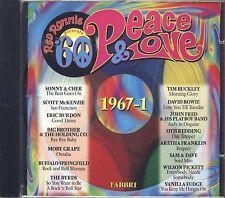 RED RONNIE - Peace & lOVE 1967-1 SONNY & CHER TIM BUCKLEY ERIC BURDON BOWIE CD