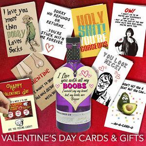 Rude Funny Him Her Cheeky Banter Joke Valentine Birthday Greetings Cards