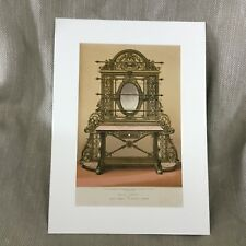 Antique Victorian Print Cast Iron Hall Table 1862 International Exhibition