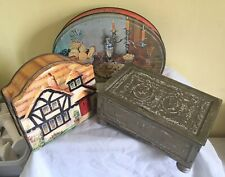 3 x  vintage  biscuit confectionary tins Huntley & palmers Tuckers   etc lot 9
