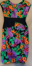 Vintage A.J. Bari Flower Dress Sz 12, made in Usa, zipper in the back,