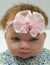 "Berenguer Lifelike Real 13"" Baby Girl Doll w/ Blue Eyes Redhead Red Hair Reborn"