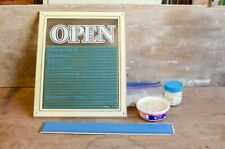 New ListingVintage Farm Open Sign Store Restaurant Marquee sign with letters