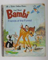 Bambi Friends of the Forest  Vintage Little Golden Book Walt Disney 1975