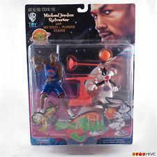 Space Jam Michael Jordan and Sylvester with Sky Stilts & Plunger Stuffer 1996 WB