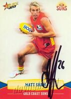 ✺Signed✺ 2013 GOLD COAST SUNS AFL Card MATT SHAW