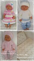 PAPER KNITTING PATTERNS *B* (Set of 4)For Baby Born/17 Inch Dolls