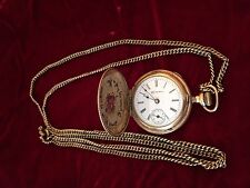 Vintage Gold Filled Ladies Pendant Watch with Gold Filled Chain