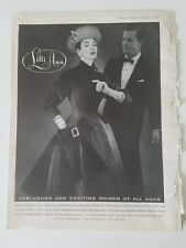 1955 Lilli Ann women's suit Alaskan seal virgin wool coat vintage fashion ad