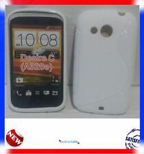 Pellicola+Custodia cover case WAVE BIANCA per HTC Desire C
