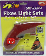 Light Keeper Pro Incandescent Christmas Tree Light String Set Repair Fix Tool