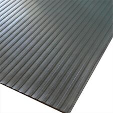 Rubber-Cal Wide Rib Corrugated Rubber Roll Floor Mat 180 x 36 x 0.13 in.