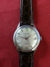VINTAGE CROTON AQUADATIC AUTOMATIC WRIST WATCH SWISS MADE 17 JEWELS RUNS & STOPS