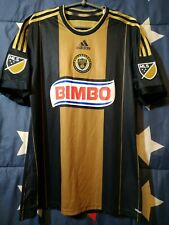 SIZE L PHILADELPHIA UNION 2014-2015 PLAYER ISSUE AWAY FOOTBALL SHIRT JERSEY