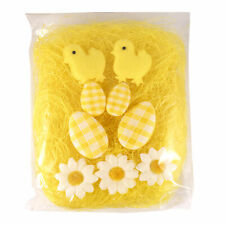 Easter Decorated Eggs, Arts and Crafts - Grass Chicks Eggs Yellow