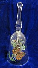 Swallowtail & spotted Butterfly Glass Collectible Bell