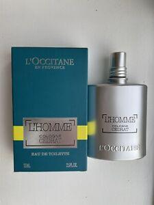 L'Occitane L'Homme Cologne Cedrat 75ml Eau De Toilette Spray Men's EDT