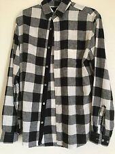 H&M Buffalo Check Linen Shirt Small