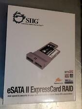 eSata Ii ExpressCard/54 Raid Siig 2-eSata ports New in open box