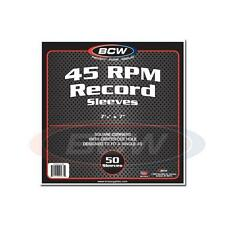 1 Pack of 50 BCW 45 RPM Record Paper Sleeves with hole