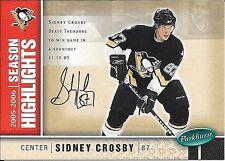 05/06 Parkhurst Facsimile Auto Parallel #593 Sidney Crosby #077/100