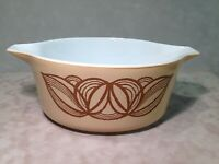 Pyrex Raffia Brown Onion 2.5 Qt Casserole 475-B - NO LID
