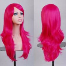 Wig Deluxe Natural Long Curly Straight Wavy Anime Hair Full Wig Cosplay White sn