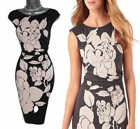 Phase Eight Pink Graphite ROSABELLE Print Silky Jersey Pencil Dress UK10 £99