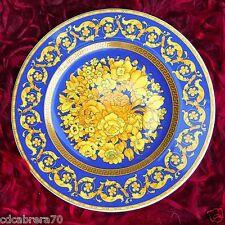 "ROSENTHAL VERSACE 2000 Floralia Blue plate Ø 7"" - 18 cm"