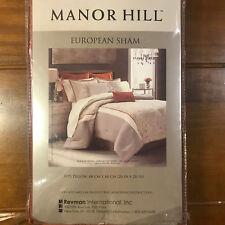 "New Manor Hill Deco Opulence European Euro Sham Burnt Orange Stitch 26"" x 26"""