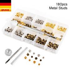 180Set Metall Lederwerkzeug Nieten DIY mit 2 Größe Ziernieten Doppel-Hohlnieten