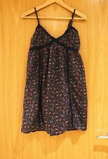 Zara trf collection navy floral sundress 100% cotton size S