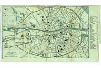 Dublin, Ireland; 1902 Antique Map with Landmarks Indicated