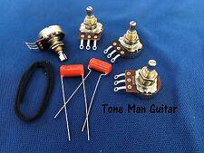Upgrade Guitar Wiring Kit for Gibson Epiphone Les Paul Pots Orange Drop Caps