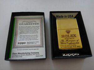 Year 2016 Brass Zippo Lighter ROLEX Of Geneva MASTERPIECE WATCH CRAFTSMANSHIP