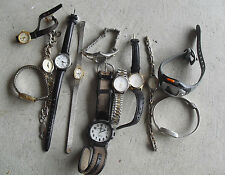 BIG Lot of 12 Vintage timex Mens and Womens Watches LOOK