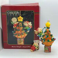 1995 Carlton Cards Heirloom Bunny Delight Carrot Light Christmas Tree Ornament
