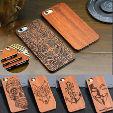 DIY Real Natural Wooden Wood Bamboo & PC Phone Case Cover for iphone 7 & Plus