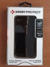 iCOVER PROTECT BUMPER CASE FOR iPHONE 4 & 4S (Black)