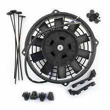 """8"""" 12v Push Type Radiator Cooling Fan With Straight Blades + Mounting Kit"""