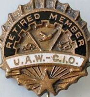 United Auto Workers CIO UAW Vintage Pinback Pin Button