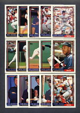 1992 Topps Boston Red Sox TEAM SET + Traded (37) Cards