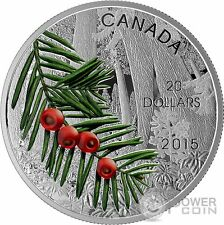 COLUMBIAN YEW TREE Forest Of Canada Silver Coin 20$ Canada 2015