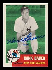 1953 Topps Archives Signed Autographed Hank Bauer New York Yankees 20726