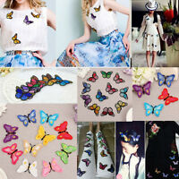 Embroidery Butterfly Sew On Patch Badge Embroidered Fabric Applique DIY 10pcs E7