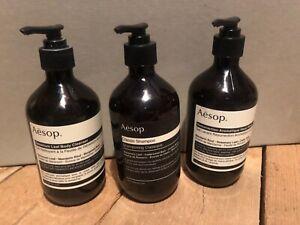 Aesop Geranium Body Wash x2 & Shampoo x1 *empty bottles 500ml