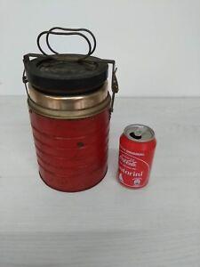 Vintage copper Vacuum Lunch Food Jar Pot Thermos Hot Soup term Mug Bottle 1960´s